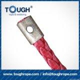 Fibra 100% resistente de Uhwmpe da corda da corda sintética cinzenta do guincho da cor 12.5mmx28m4X4