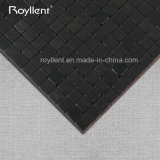 Royllentの卸し売り工場内部のモザイク黒カラー自己接着ACPモザイク・タイル4mm 5mmのブラシの表面