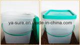 Cubeta desobstruída segura 2L 5L 8L 15L 20L do empacotamento plástico do alimento de HDPE/PP