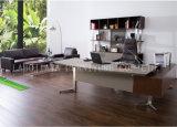 新しい現代革PVCオフィスの管理の机(V5A)