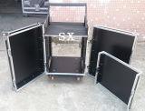 Caixa audio da cremalheira de 3 portas com o misturador na parte superior