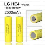 18650 batteria ricaricabile 2500mAh/35A dello Litio-Ione del LG He4