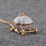 Caixa de imitação da abertura da colar do pendente do Locket do carro da abóbora de Cinderella da colar do metal