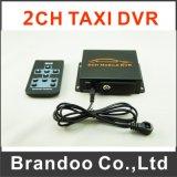 Carro DVR Mdvr DVR do CCTV DVR 2CH para o táxi do veículo