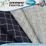 Indigo A cuadros de punto Spandex Tejido Denim para prendas de vestir