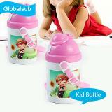 Bottiglia di acqua personalizzata dei bambini del capretto con lo spazio in bianco di sublimazione