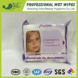 Trapos mojados del retiro cosmético que limpian los tejidos mojados para las mujeres