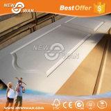 Peaux amorcées blanches de porte moulées par HDF (2-panel, 3 lambrissent, 4 lambrissent, le panneau 6, l'ovale-configuration)