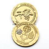 Fördernde Zink-Legierungs-Golddoppelt-Ansammlungs-Münze