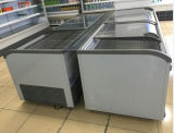 Supermarkt-Spitzenglasschiebetür-mobile tiefe Brust-Gefriermaschine