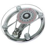 150kg Escala de Escala Personal Mecánica de Vidrio Redonda de 8mm Escala de Hotel