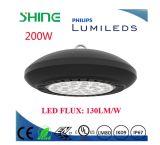 Indicatore luminoso rotondo 200W della baia dell'alloggiamento LED della lega di alluminio alto