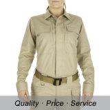 綿の女性の機密保護のワイシャツの専門家のWorkwear