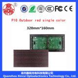 P10 extérieurs choisissent l'écran de visualisation rouge de module de DEL annonçant le panneau