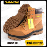 Ботинок безопасности неподдельной кожи PU/PU Outsole с стальным пальцем ноги (SN5512)