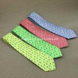 Venta al por mayor pura de seda personalizado impreso corbatas para hombres