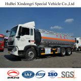 caminhão de petroleiro do combustível de petróleo da gasolina do euro 4 de 21cbm Sinotruk HOWO com o motor Diesel do homem
