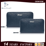 Kundenspezifisches Firmenzeichen-annehmbare Form-Reißverschluss-Schliessen-echtes Leder-Handtaschen-Mappen für Männer