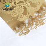 O cartão pálido do convite do papel do ofício de Brown com cinzela