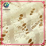 Tessuto di lavoro a maglia del merletto del Crochet del filo di ordito di nylon del cotone 15% di 85%
