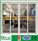 Porta deslizante de alumínio dobro de vidro Tempered para a cozinha