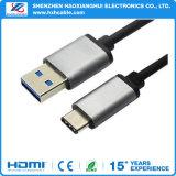 1m USB 3.1 Snelle het Laden van de Kabel van het Type C 2.1A Kabel