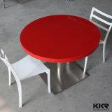 빨간 둥근 인공적인 돌 2 Seater 식탁