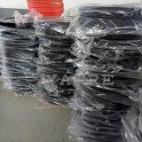 Le pare-chocs enduit de levage de poids en caoutchouc noir plaque le matériel Crossfit de forme physique de gymnastique de plaque de haltère