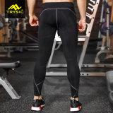 Pantaloni lunghi di compressione degli abiti sportivi degli uomini per ginnastica