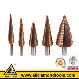 5 буровых наконечников карбида Titanium нитрида шага Coated стальных