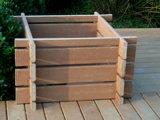 Meubles en plastique en bois Buidling de jardin