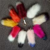 女性袋のトリミングのキツネの毛皮のPompons