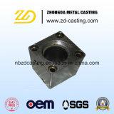 Fundição de aço personalizada do carbono com o CNC que faz à máquina como por o desenho