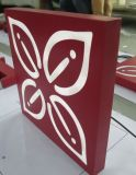 De LEIDENE van de Verf van het Staal van Stailess van Customed Acryl Vierkante Lichte Doos van de Reclame