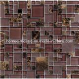 Tuile en verre et en pierre de taille multi de mélange mélangée par GPS07 de série de mosaïque