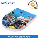 다채로운 해양 생물 HD 잉크 제트 Duroplast 변기 위생 상품