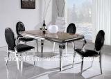 Venta al por mayor de alto brillo Comedor Mesa de comedor y silla del estilo del diseño italiano