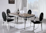 A tabela e a cadeira elevadas por atacado de jantar da sala de jantar do lustro projetam o estilo italiano