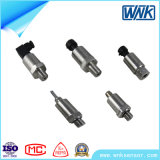 Mini transmissor de pressão cilíndrico chinês do aço 4-20mA inoxidável