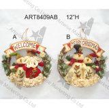 Guirlande -3asst. de décoration de Santa de bonhomme de neige de décoration de maison de Joyeux Noël