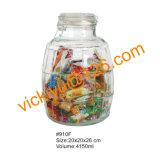 frasco de vidro do armazenamento dos doces redondos diferentes dos estilos 4000ml com tampa de vidro