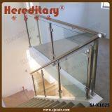 De Balustrade van het Traliewerk van het Glas van de Trap van het roestvrij staal voor Binnen (sj-H975)