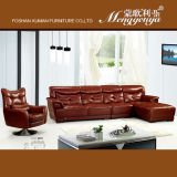 Le cuir du Brésil tournent le sofa (807)