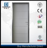 Las tiras decorativas del aluminio insertaron la puerta de acero interior residencial de la seguridad del metal