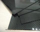 hoja de la fibra del carbón 3k (llana o tela cruzada)