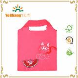 Neu Eco freundliches Großhandelsschwein-Form-Polyester-faltbare Einkaufstasche aufbereiten