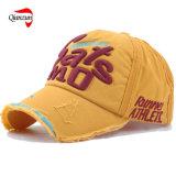 洗浄された綿の刺繍の野球帽