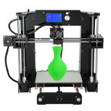 Qualité d'Anet A6 DIY et imprimante 3D rentable avec le prototype rapide