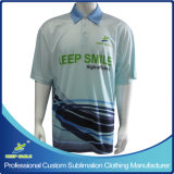 Camisa de polo superior da escola do Sublimation cheio Custom Designed com logotipo da caixa