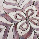 紫色パターンは販売のための装飾的なタイルのステンドグラスのモザイクを囲む